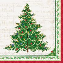 Classic Christmas Tree Napkins (16)
